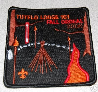 Boy Scouts of America Order of the Arrow BSA OA 2006 Tutelo Lodge 161 Fall Ordeal Patch