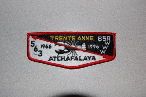 Boy Scouts of America 30th Anniversary Lodge Flap Atchafalaya Lodge Order of the Arrow #563