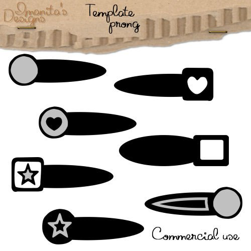 Imanitas Designs ~ Commercial Use Prong Template
