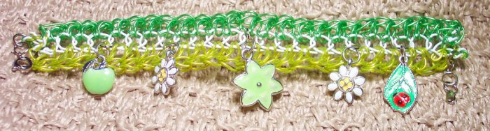 Springtime Woven Wire Charm Bracelet