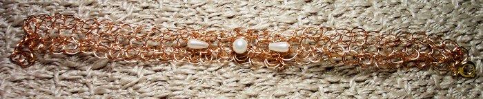 Woven Copper Wire Bracelet