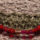 Burnt Sienna Beaded Hemp Bracelet