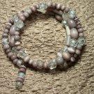 Smoky Lavender Memory Wire Bracelet