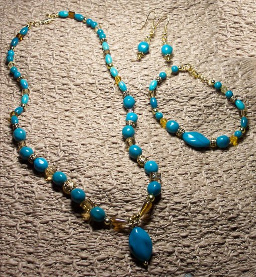 Turquoise and Amber Set