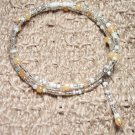 Pearl Accented Memory Wire Bracelet
