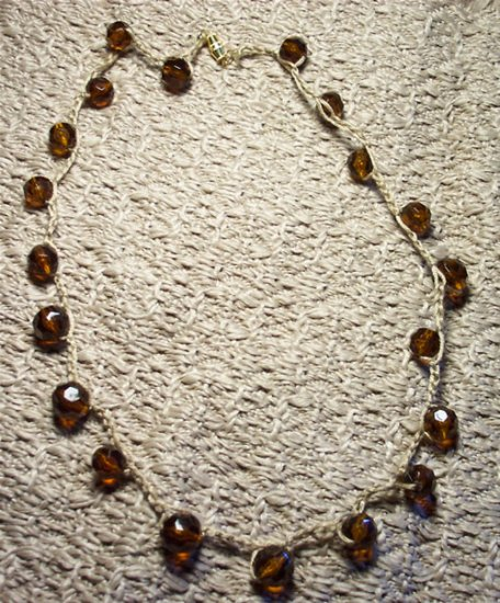 Floating Faceted Cocoa Bead Necklace