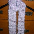 Lilac Crocheted Scarf
