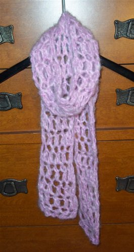 Very Berry Crocheted Scarf