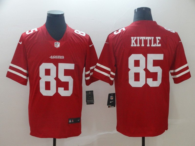 low priced 7db3b a1cbb Nike San Francisco 49ers 85 George Kittle Red Limited Jersey