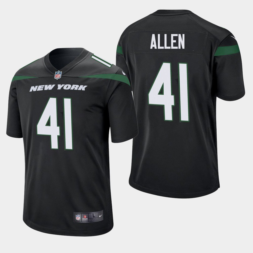 low priced 3a46b 1d904 Youth New York Jets JOSH ALLEN Stealth Black Stitched Jersey ...