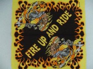 Fire Up And Ride Bandana