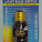 Light Bulb Switch with Dual Outlets