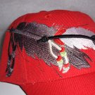 Native Pride Double Feather Design Baseball Style Hat