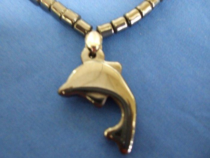 Hematite Dolphin Necklace