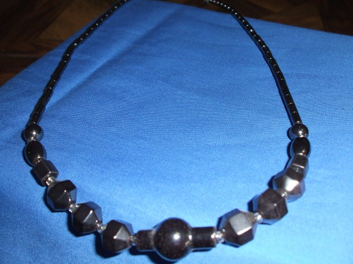 Hematite Industrial Style Necklace