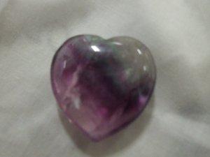 Fluorite Puffed Heart