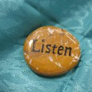 Spirit Stone With The Word Listen