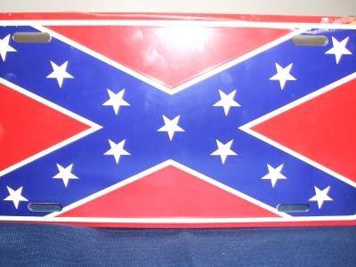 Confederate Flag License Plate