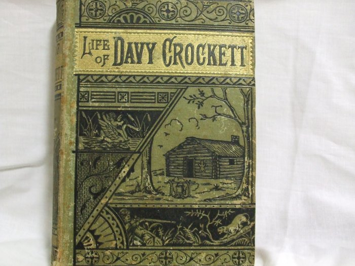 1869 Life Of Davy Crockett First Edition
