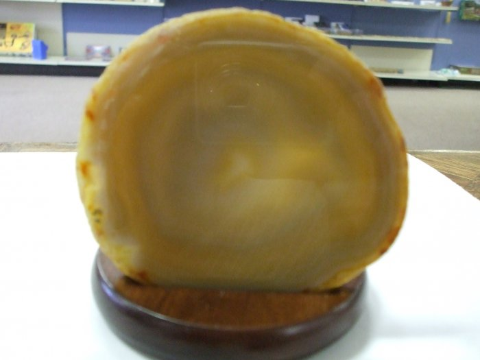Agate Slice Tealight Candle