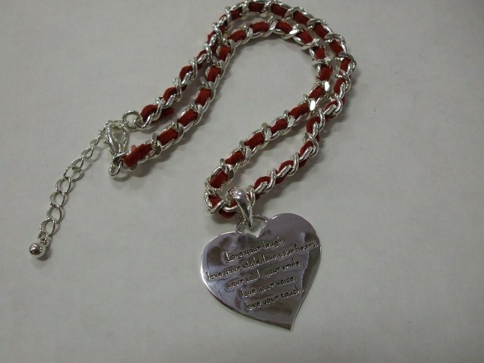 Heart Necklace with Message of Love