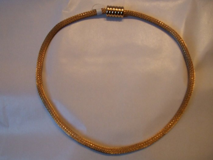 Gold Rope Necklace With Magnetic Clasp