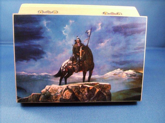 Small Native American Designed Keepsake Box