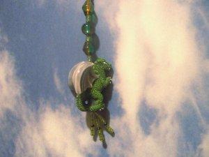 Dragon Fan Pull Green
