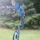 Agate Slice Wind Chime Blue