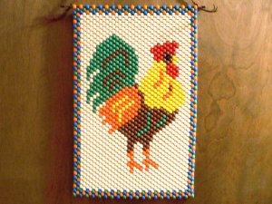 Rooster Hand Crafted Wall Hanger