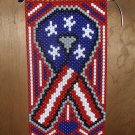 American Pride Ribbon Hand Crafted Wall Hanger