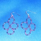 Purple Celtic Look Hand Crafted Earrings