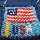 U.S.A Flag Wall Hanging Hand Crafted