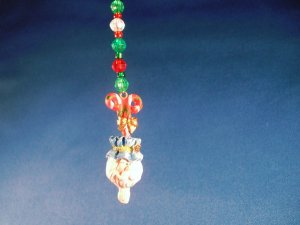Santa Ceiling Fan Dangle Hand Crafted