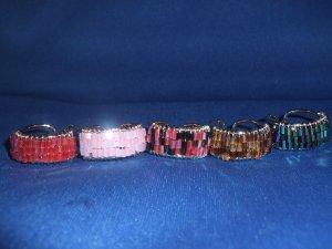 Lot of 5 Adjustable Bead Rings