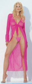 2 Piece Long Sleeve Jacket with G-String