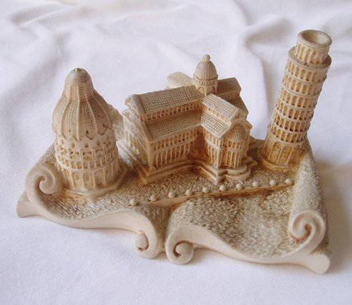 miniature of Leaning Tower of Pisa & Piazza del Duomo, italy SOLD!