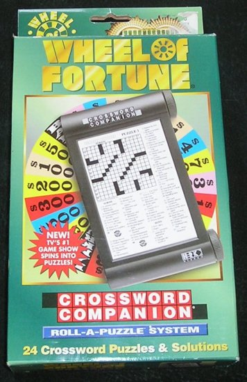 Wheel Of Fortune Crossword Companion Roll-A-Puzzle System Herbko New