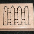 Rubber Stamp Mounted On Wood Garden Fence By D.O.T.S.