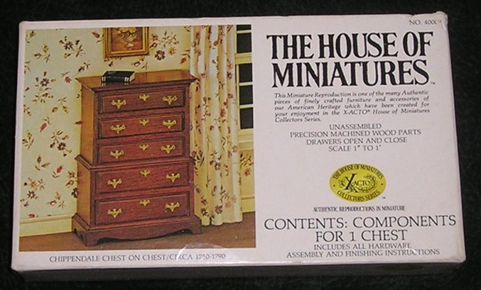 Vintage The House Of Miniatures Chippendale 6 Drawer Chest Kit For Dolls House With Box 1977