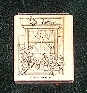 Rubber Stamp Feathered Friends Hello... Stampin' Up! Retired 1999