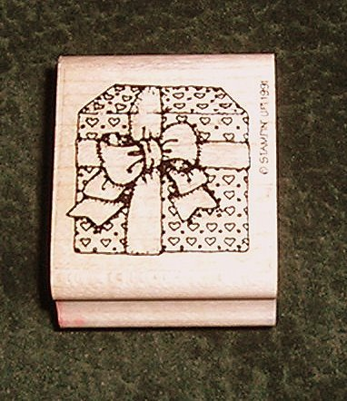Rubber Stamp Present Gift With Bow By Stampin' Up! 1991