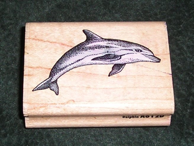 Rubber Stamp Dolphin By Rubber Stampede