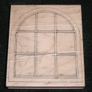 Rubber Stamp Mounted On Wood Large Arch Window By Stampington & Company 1994