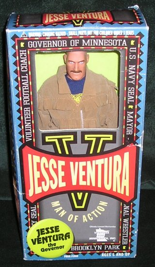 Jesse Ventura 12 Inch Action Figure Doll In Original Box