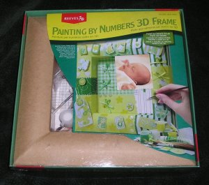 Paint By Numbers 3D Frame For New Baby Boy Or Girl By Reeves