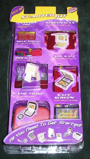 Game Boy Advance SP Starter Kit Nintendo Spare Battery, Carrying Case, Docking Station & More