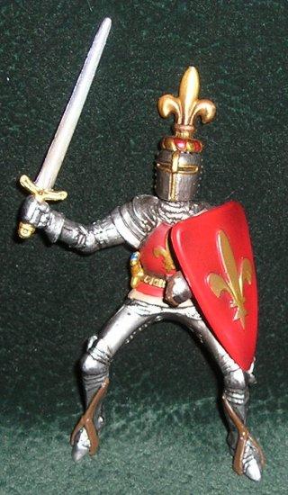 Knight Figure Prince Fleur-De-Lis Coat of Arms #70018 By Schleich