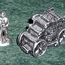 9 Liberty Falls Pewter Figures & Stagecoach Americana Collection