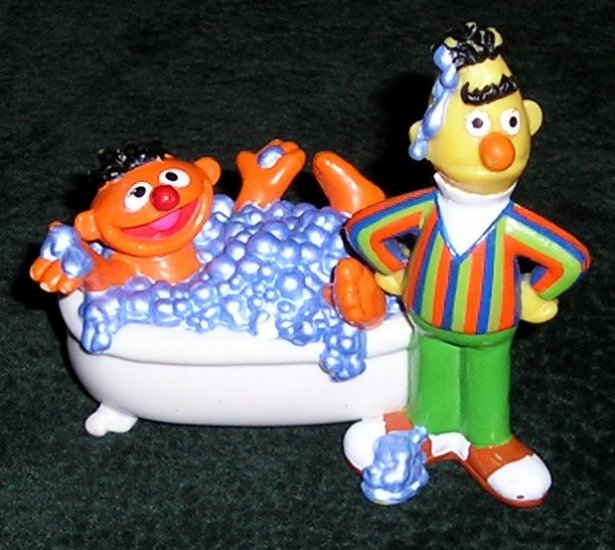 Hard To Find Sesame Streets PVC Figure Bert & Ernie Applause